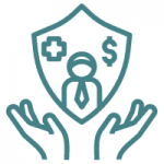 State Farm Final Expense Review coverage icon teal hands and shield