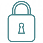 State Farm Final Expense Review padlock teal icon