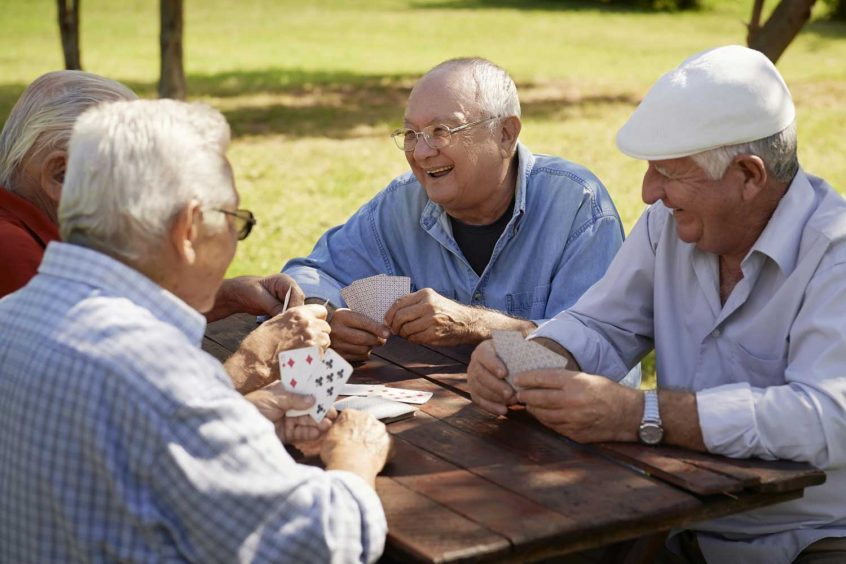 Funeral Insurance with Atrial Fibrillation seniors planing cards