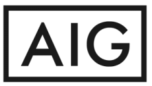 Black and white AIG logo