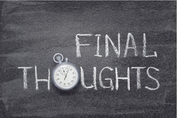 Final thoughts chalkboard