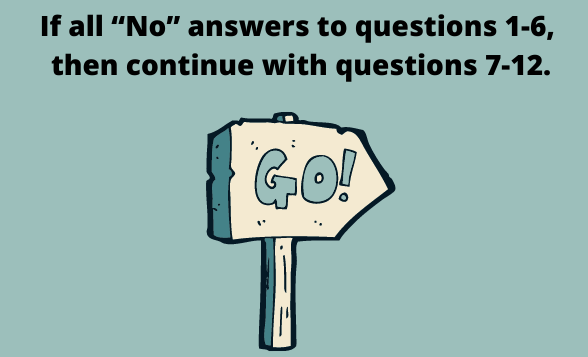 Questions and go sign