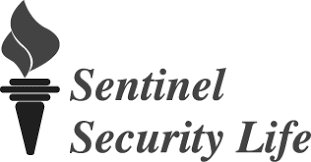 Sentinel Security Life logo black and white