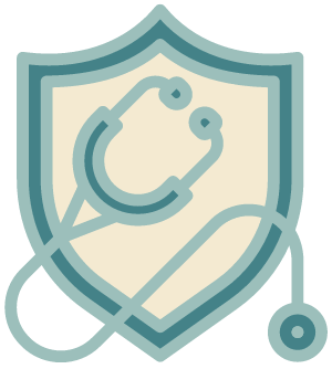 stethoscope and shield