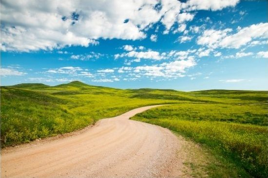dirt road and prairie