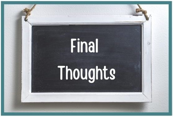 Final Thoughts chalk board