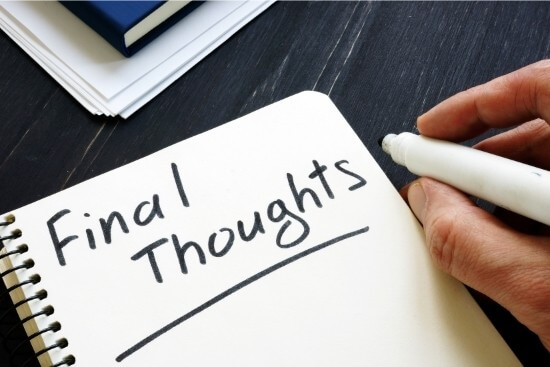 Final thoughts writing