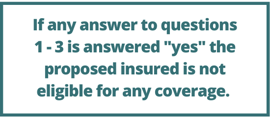American Amicable health questions 1